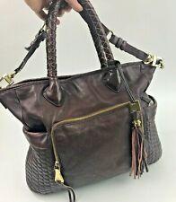 Aimee Kenstenberg Brown Leather Large Satchel Quilted Purse Shoulder Bag