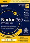 Norton 360 Premium 2021 10 Devices 10 PC 1 Yr Secure VPN Internet Security EU UK