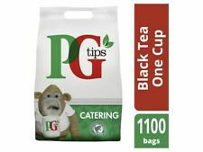 PG Tips 1100 One Cup Catering Tea Bags, Pyramid shape tea bag, Free P&P!