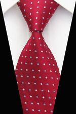 Regalos Para Hombres Clásico Para hombres Corbata Corbata seda con patrón geométrico de cuadros rojo blanco