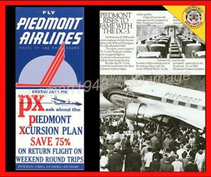 PIEDMONT AIRLINES 1961 AIRLINE TIMETABLE SCHEDULE... PLUS Piedmont and the DC-3