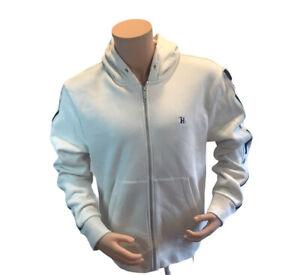 NWT$160 Tommy Hilfiger Lewis Hamilton Men's Full Zip Fleece Hoodie Cream Size L