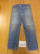 used Levi 501 USA grunge feathered jean tag 38x34 Meas 34x30 22689F