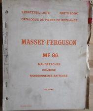 Massey Ferguson Mähdrescher Combine MF 86 Ersatzteilliste