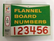 Vintage 1962 Red Flannel Board Cut-Out Numbers Milton Bradley 7802
