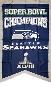 Seattle Seahawks NFL Super Bowl Championship Flag 3x5 ft Sports Banner Man-Cave