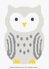 Crochet Pattern/Patterns ~  OWL - GENDER NEUTRAL Color Graph/Chart pattern