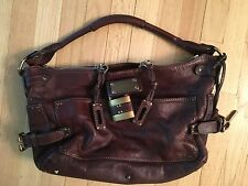 Women's Chloe Paddington Chocolate Brown Leather Handbag w Hardware