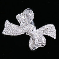 Wedding Bridal Diamante Crystal Bowknot Hair Clip Barrette Hair Accessories