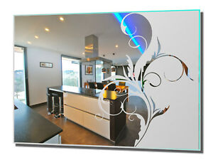 ** Wohnraumspiegel Ranke 1 Spiegel Bad Flur Deko Wohnung Gravur individuell **