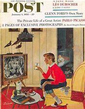 The Saturday Evening Post January 4 1958 Ben Prins Vintage Americana