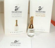Swarovski Crystal Memories CHAMPAGNE BOTTLE 9460 077 New NIB w/ Box +COA