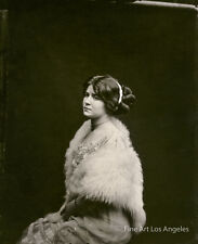 Bellocq photo of Storyville prostitute with white fur, New Orleans, 1910-1915