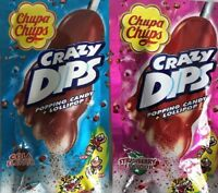 Chupa Chup Crazy Dips x 24 Cola Strawberry 16g Bulk Lollies Candy Buffet Favors