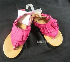 Girls Gymboree Fairy Fashionable Fuchsia Pink Fringe Sandals Sz 1 New