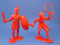 """MARX Roman Soldiers 6"""" Figures 2 Marked Louis Marx Co Reissue FREE SHIP"""