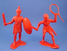 MARX Toy Soldiers Roman Soldiers 6 Inch Figures 2 Marked Louis Marx Co Reissue