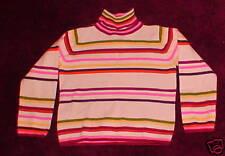 Girls White Multicolored Stripe Sweater Top Gymboree 5