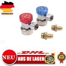 2 tlg R134a Schnellkupplung für Klimaanlage Kältemittel Adapter Hoch & Nieder DE