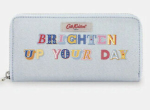 """NEW Cath Kidston """"Brighten Up Your Day"""" Mini Wallet Pale Blue *With Tags*"""