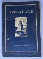 Songs Of Yale 1934, Song Book, Inscribed By Famous TV Director Richard Dunlap