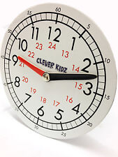 Children's Teaching Clock Learning To Tell Time Educational Magnetic Back