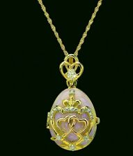 New ListingFranklin Mint Hearts Entwined Golden Locket Necklace