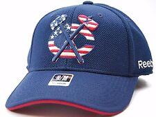 CHICAGO BLACKHAWKS REEBOK M786Z USA PRIDE STRETCH FIT NHL HOCKEY CAP HAT S/M