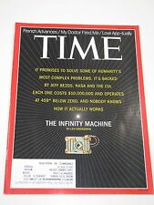 Time Magazine- The Infinity Machine: Humanity's Problem Solver-February 17, 2014