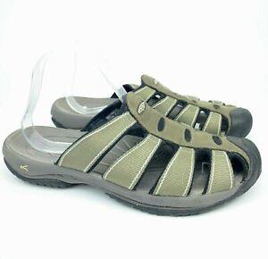 KEEN Aruba Light Khaki Olive Green Closed Toe Men's Slides Sport Walking Sandals