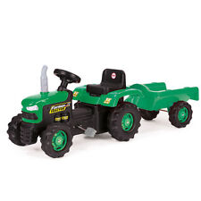 Kids Dolu Ride on Pedal Tractor With Trailer