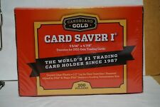 200 Count Cardboard Gold Card Saver 1 Card Holder for Graded Card Submissions