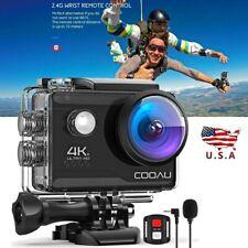 4K HD 20MP 1080P WiFi Sport Action Camera Waterproof Camcorder DV w/2X Batteries