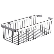 Space Aluminum Single-Tier Bathroom Shelf Storage Rack Wall Mounted Gray