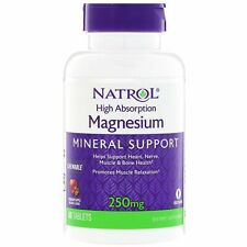 Natrol MAGNESIUM for Bone, Muscle, Heart, Nerve Health - 60 Chewable Tablets