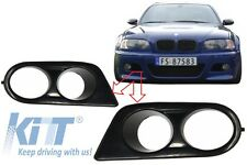 BMW E46 M3 Fog Lights Covers Sport Air Duct Fog Lamp Ornament Hamann Look Black