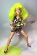 Jem and the Holograms PIZZAZZ doll, clothes, shoes, Guitar Hasbro 1986 12.5""