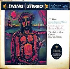 RCA SHADED DOG 1s/2s JS Bach ROBERT SHAW CHORALE Jesus Dearest Master LSC-2273