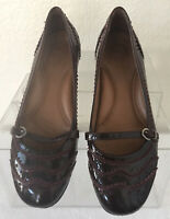 Nurture Hazelnut Women's Mary Jane Patent Leather Size 8.5M Shoes  Buckle
