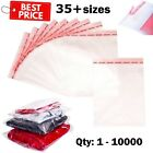 CLEAR CELLOPHANE BAGS CELLO SELF SEAL LARGE SMALL FOR SWEET CARDS A4 C5 A5 5 x 7 <br/> 💥BEST PRICES💥VAT INVOICE💥FAST+FREE SHIP💥ALL SIZES💥