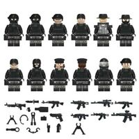 Police Swat Minifigures Tactical Police Minifigs Soldiers Military Guns Weapons