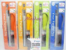 Pilot Calligraphy P-FP-120R Parallel Pen 4 Size set + 12 Colors Cartridges