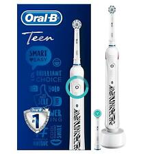 Oral-B Teen Smart Electric Rechargeable Toothbrush with 2 Brush Heads, 13 Years+