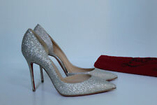 8  / 38.5 Christian Louboutin Iriza Half d'Orsay Glitter Pointed toe Pump Shoes
