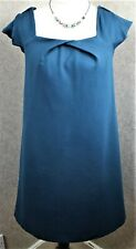 LK Bennett ~ size 12 ~ teal jersey, square neck, loose fit, short tunic dress