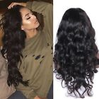 100% Brazilian Virgin Human Hair Body Wave Lace Front Wig Glueless Lace Wig