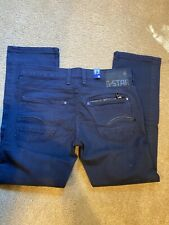 G Star Attacc Low Straight Mens Jeans  33x30 Stretch Button Fly Stretch