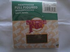 Queen Pantyhose w/ expandable panel Jet Brown 6X Browns Nylon Stone 2 Pairs