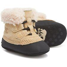 Sorel Caribootie Caribou Infant Boy Brown Black Classic Boots Sz 1 Newborn