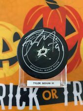 TYLER SEGUIN Autographed SIGNED DALLAS STARS OFFICIAL GAME PUCK